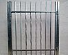 Entry wicket, zinc coated - made of vertical posts and horizontal bars